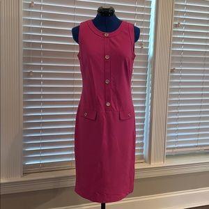 Talbots Hot Pink Sleeveless Dress, 4